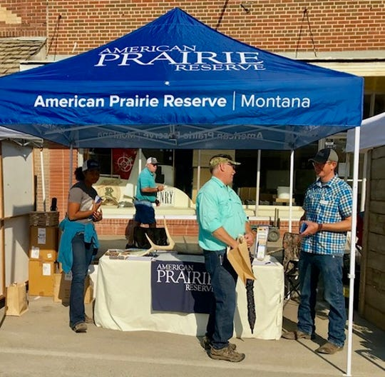 The American Prairie Reserve booth at the Lewistown's annual Chokecherry Festival. The National Discovery Center will have two main audiences: Visitors to the reserve and local residents.