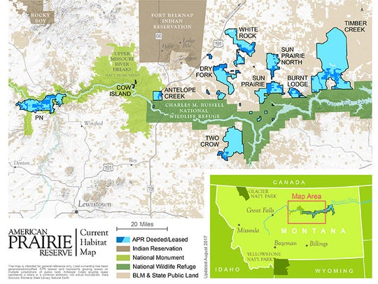 The American Prairie is being stitched together north and south of the Missouri River near the Charles M. Russell National Widlife Refuge and Upper Missouri River Breaks National Monument.