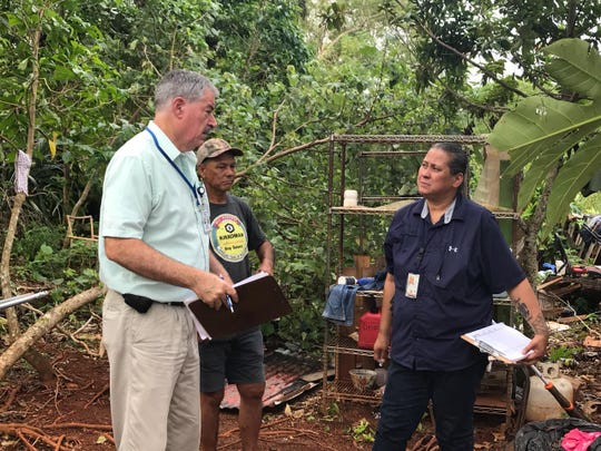 In this file photo, FEMA conducts Typhoon Mangkhut damage assessments on Guam.