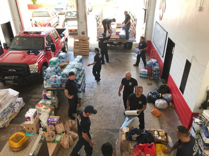 The Guam Fire Department, working with the Western Pacific Islands Association of Fire Chiefs, recently held a relief drive on Guam Rota residents the wake of Typhoon Mangkhut, which made landfall on September 10, 2018.  More than 10 pallets of canned goods, butane stoves, clothing, flashlights, and batteries were donated from community members and businesses.