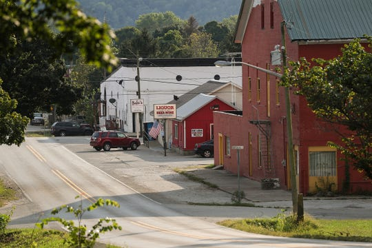 Views of Laurel, Ind., Wednesday, Sept. 19, 2018. After Laurel High School closed in 1989, one-third of the town moved away. In years since, the population has continued to decrease and many businesses have closed their doors.