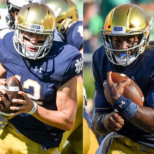 Notre Dame's Kelly says Brandon Wimbush can emulate former backup Ian Book