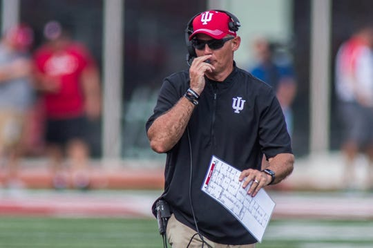 """IU coach Tom Allen says the Hoosiers are just trying to """"win one Big Ten game at a time."""""""