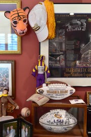 The home office of Madison resident Bill Hulsey, former president of the LSU Tiger Athletic Foundation, is jam packed with LSU memorabilia. Wednesday, Sept. 19, 2018.