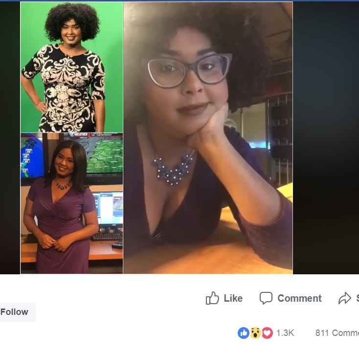 WBBJ meteorologist Corallys Ortiz replies to viewer critique about hairstyle