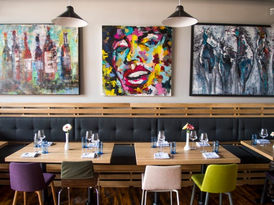 Local art is featured inside Rebel Kitchen, a new restaurant at 108 W. Jackson Ave. in Knoxville's Old City.