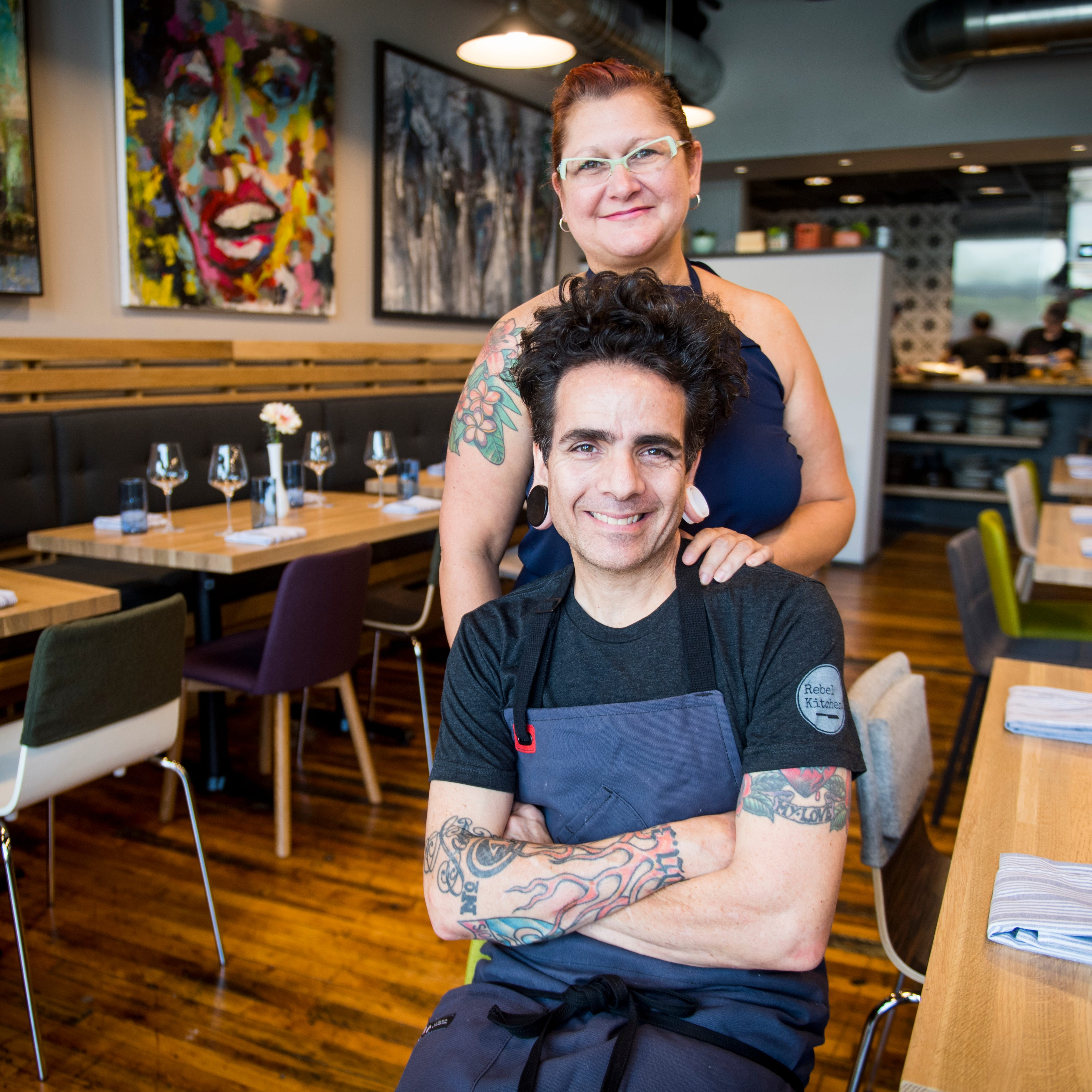 Chef Paul Sellas and his wife Franchesca Sellas...