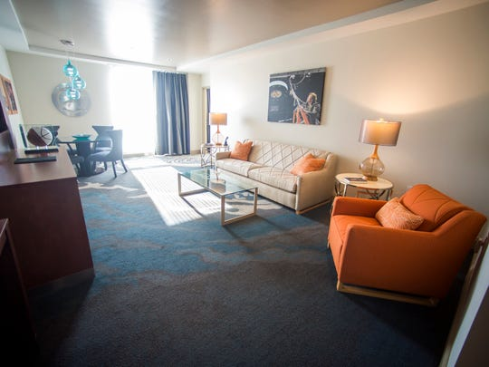 Inside the Pat Summitt Suite at The Tennessean Hotel in downtown Knoxville.