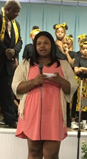 "Teirra Foster speaks of her two children and their involvement with Freedom Schools of East Knoxville. ""My daughter has learned to embrace her culture, and her confidence has gone through the roof. My son has autism; the program has broken so many barriers of communication. He loves it so much, and he's so excited about reading."""
