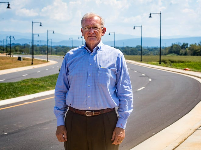 Mikkel Anderson of Resight Holdings pictured on Tesla Boulevard at the Springbrook Farm Development in Alcoa on Thursday, September 20, 2018.