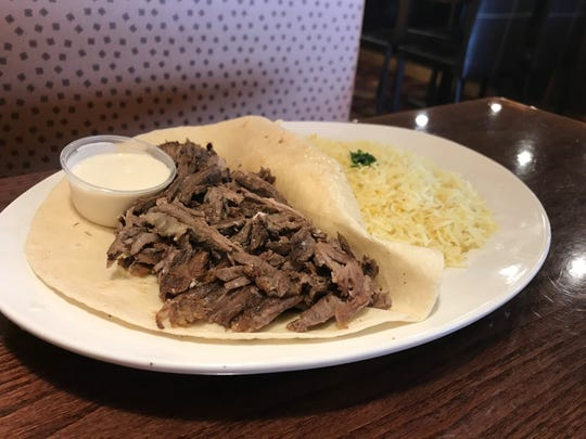 Amer's Grill Mediterranean Cuisine's beef and lam shawerma dinner offered ample amounts of meat that was pleasantly seasoned with what seemed like the house's favorite blend of spices.