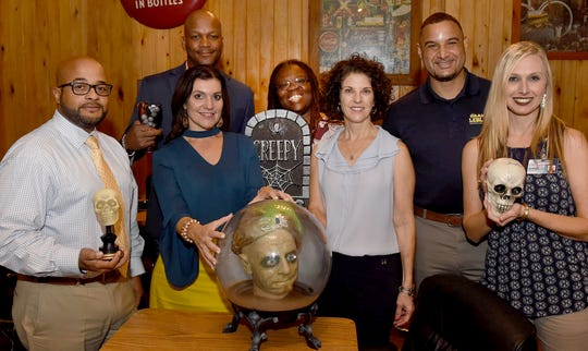 The Witches and Warlocks of the Scream Team: (from left) Brandon Singleton, Melaine Lee-LeBouef, Bryant Briggs, Dr. Mia Ben, Denise Cannatella, Graig LeBlanc and Shelly Fontenot.