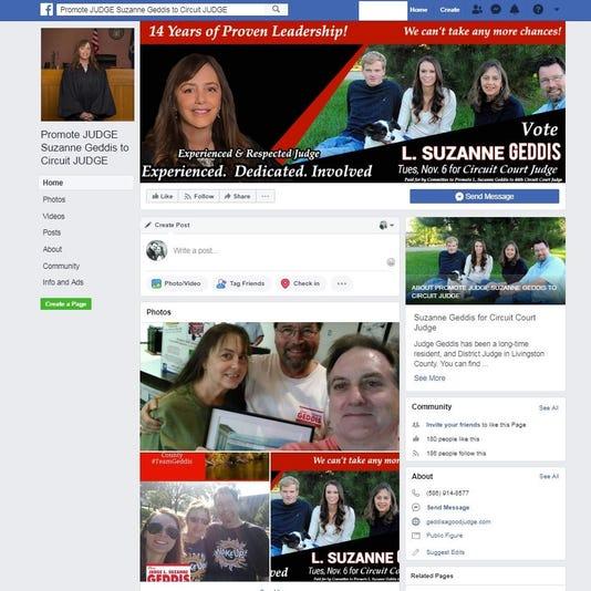 Suzanne Geddis Facebook Page