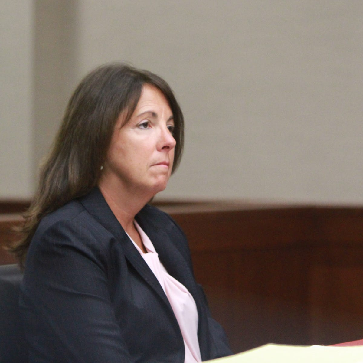 Judge Theresa Brennan listens to her attorney offers several motions on her behalf on Wednesday Sept. 19, 2018 in the 16th District Court.
