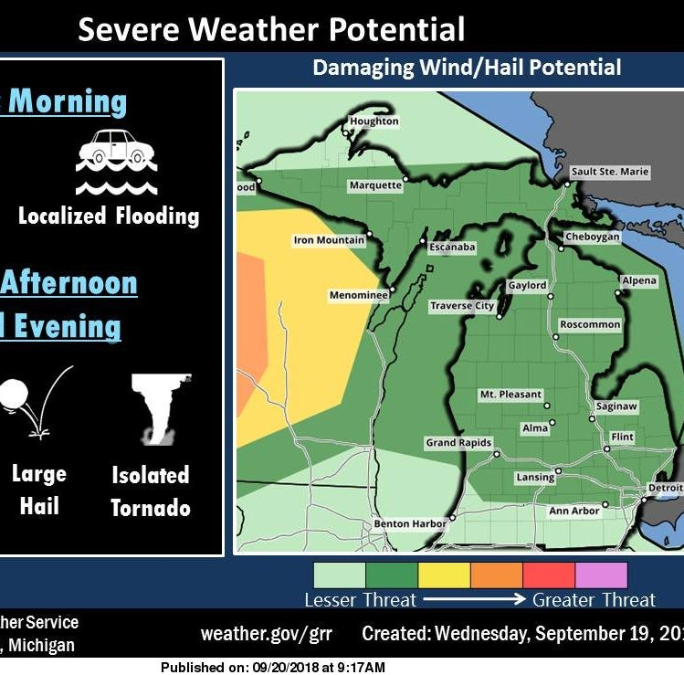 Hail, damaging winds possible during Thursday afternoon severe weather