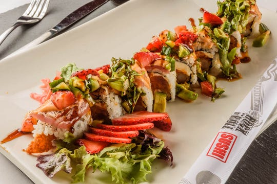 Cyndi Lauper roll is one of Rock N Roll Sushi's rolls named after a famous singer. The company offers sushi and hibachi.