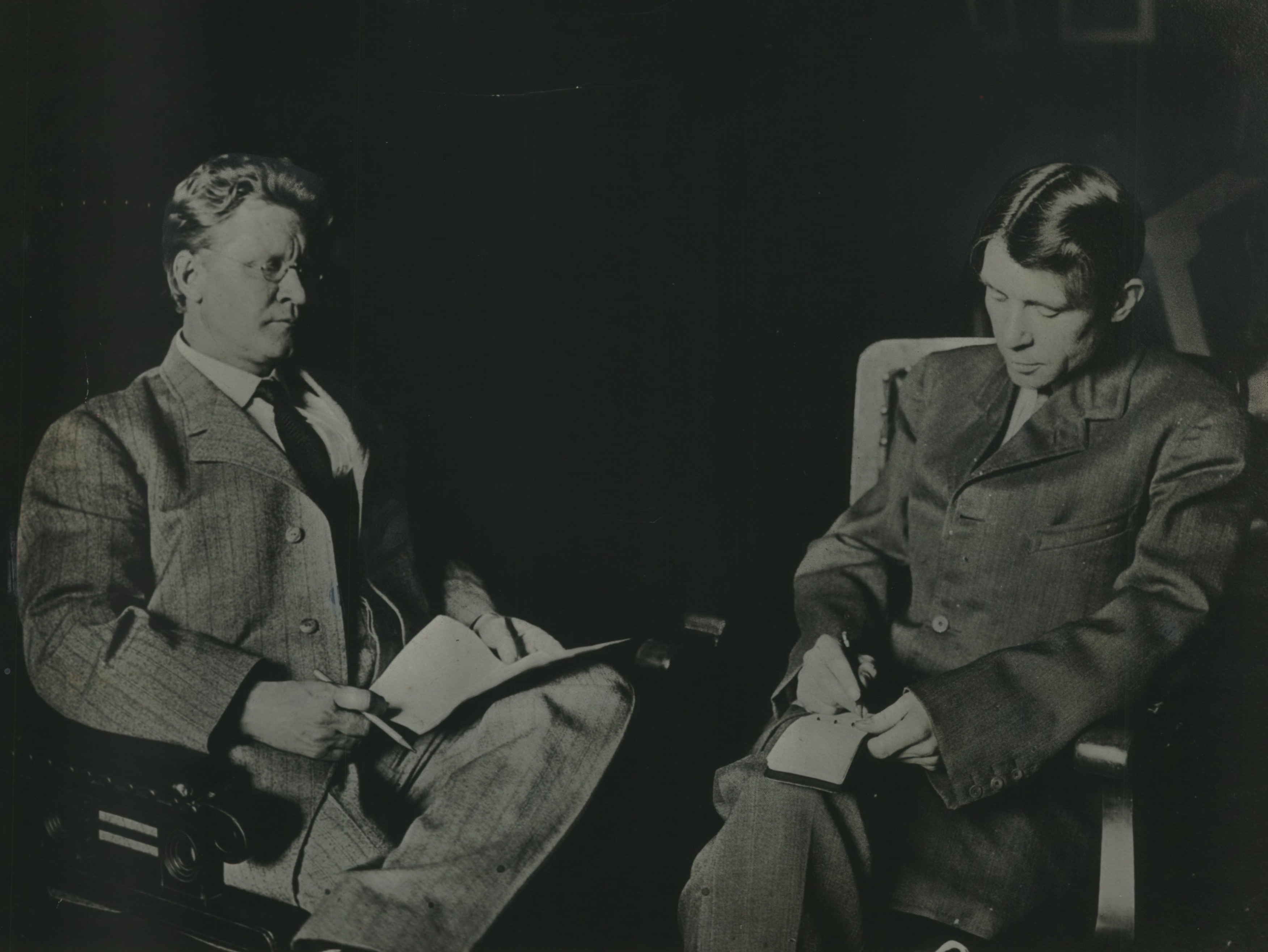In 1910, Milwaukee's first Socialist Mayor, Emil Seidel (left), was interviewed by a young reporter named Carl Sandburg. Sandburg would soon join the mayor's staff.