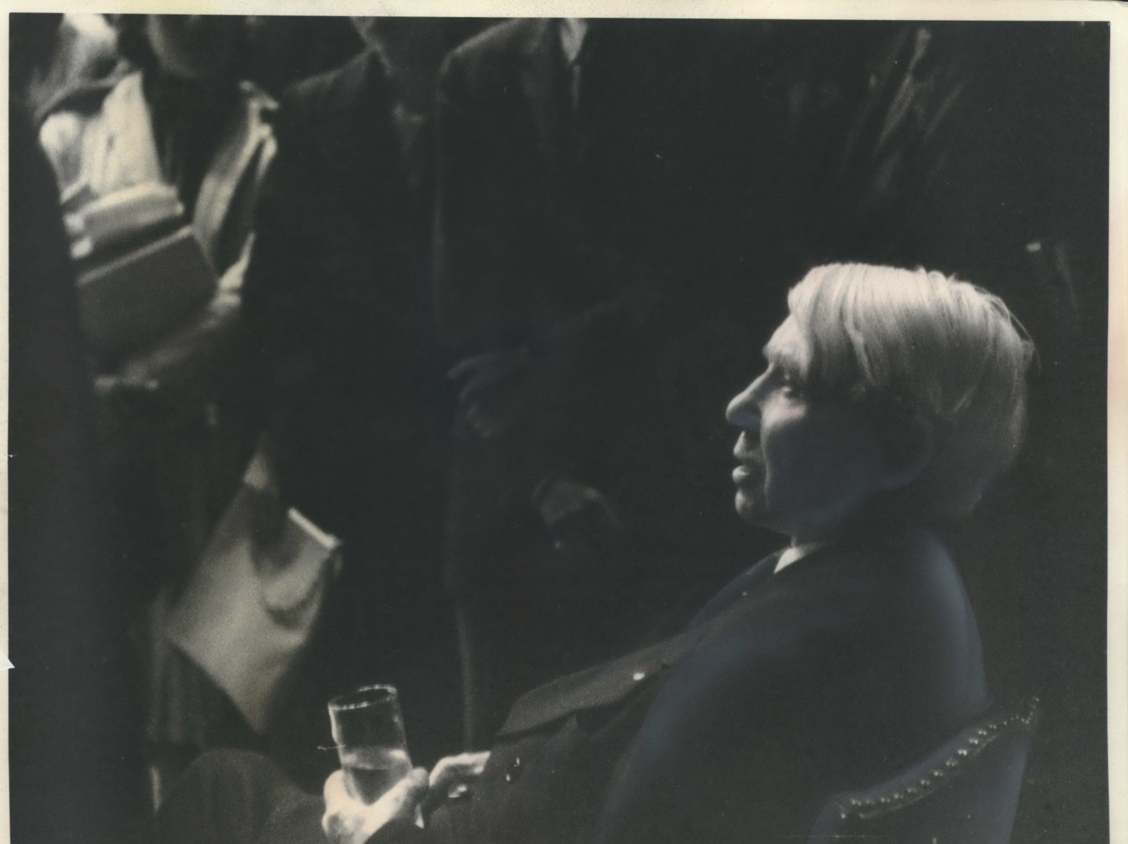 "1968: Poet Carl Sandburg relaxed after he spoke at the University of Wisconsin in Madison.  He told his audience that ""creative solitude"" is lacking in American life because of mass media."