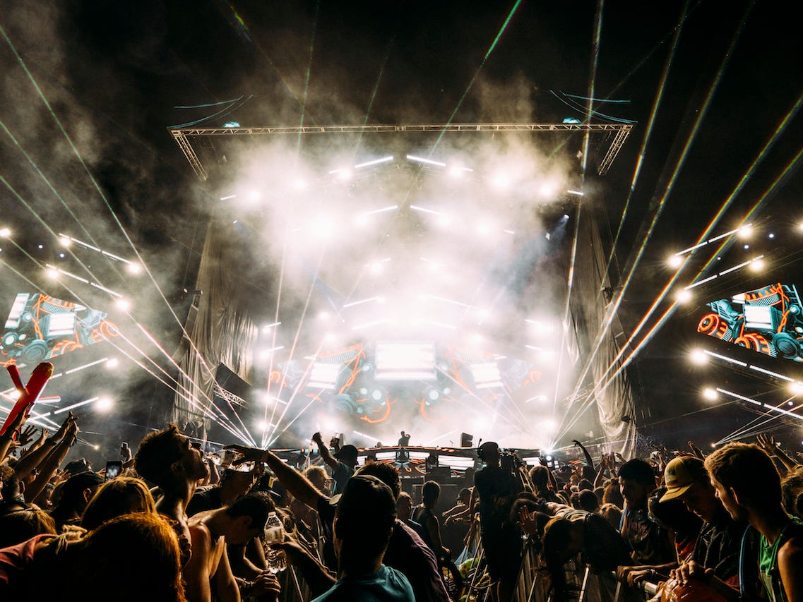 EDM act Excision, pictured here performing at Lollapalooza in Chicago this past August, will headline Radiance New Year's Eve at the Wisconsin Center. Zed's Dead, Bear Grillz, Riotten, Whipped Cream and Spock are on the bill. Tickets are $59 to $160.