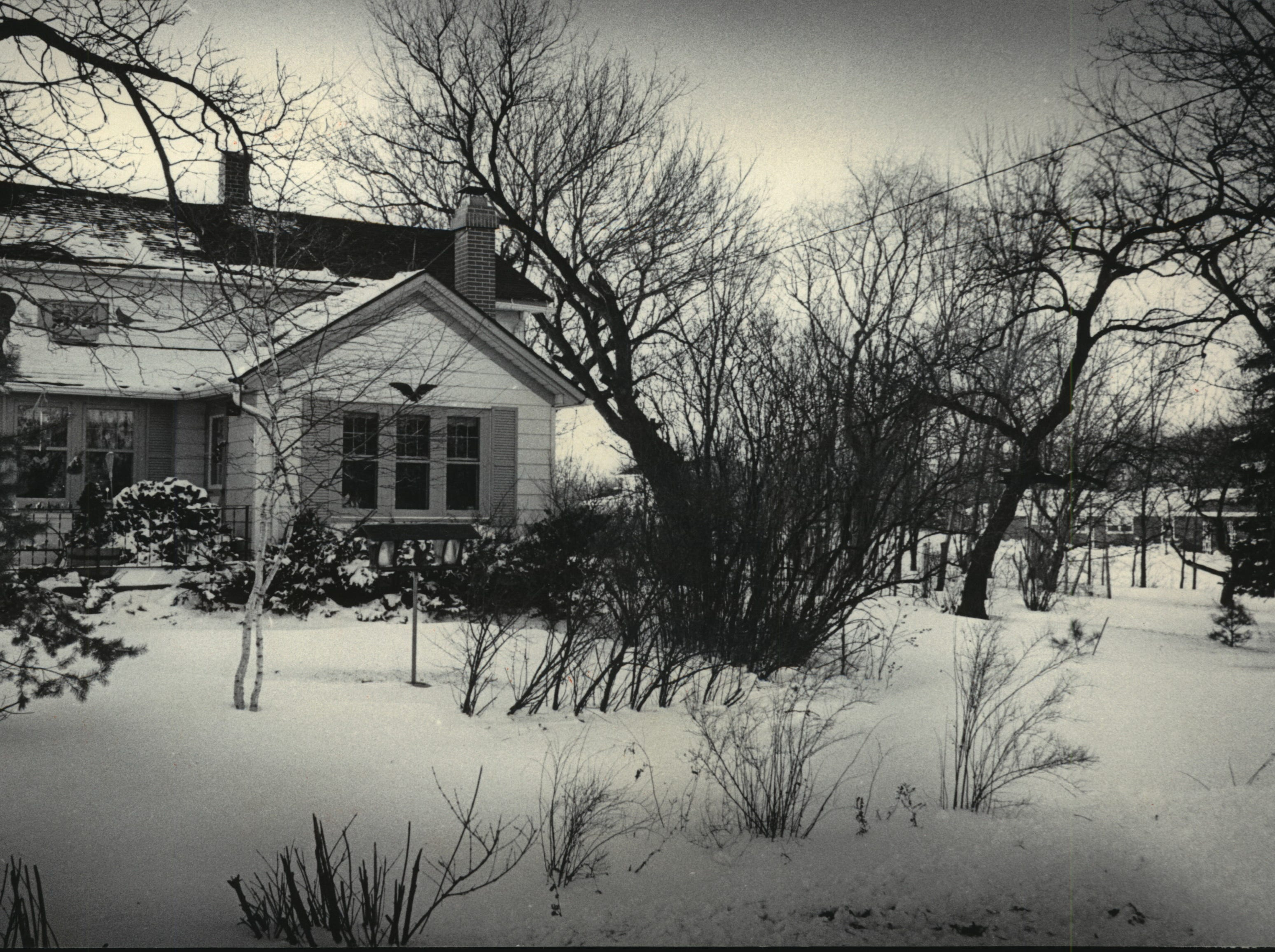 Edward Steichen, his sister Lilian Steichen and her husband, Carl Sandburg, lived in this house at W156-N6767 Pilgrim Road, Menomonee Falls.  The mulberry tree that Sandburg wrote about is at the far right.