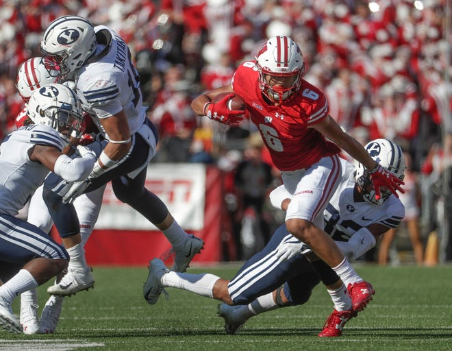 UW receiver Danny Davis played in his first game of season last week against BYU after serving a two-game suspension.
