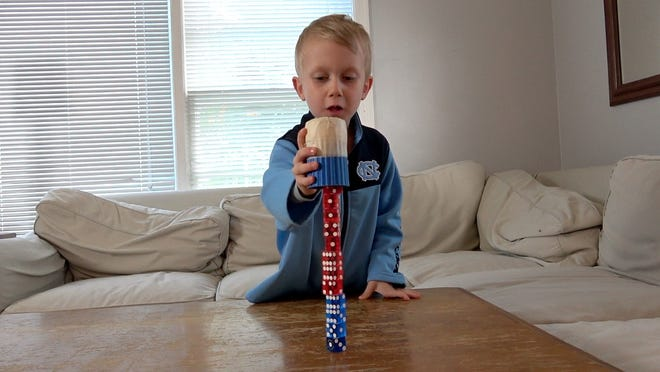 Five-year-old Colin End of Whitefish Bay will stack dice on Live with Kelly and Ryan on Sept. 24.