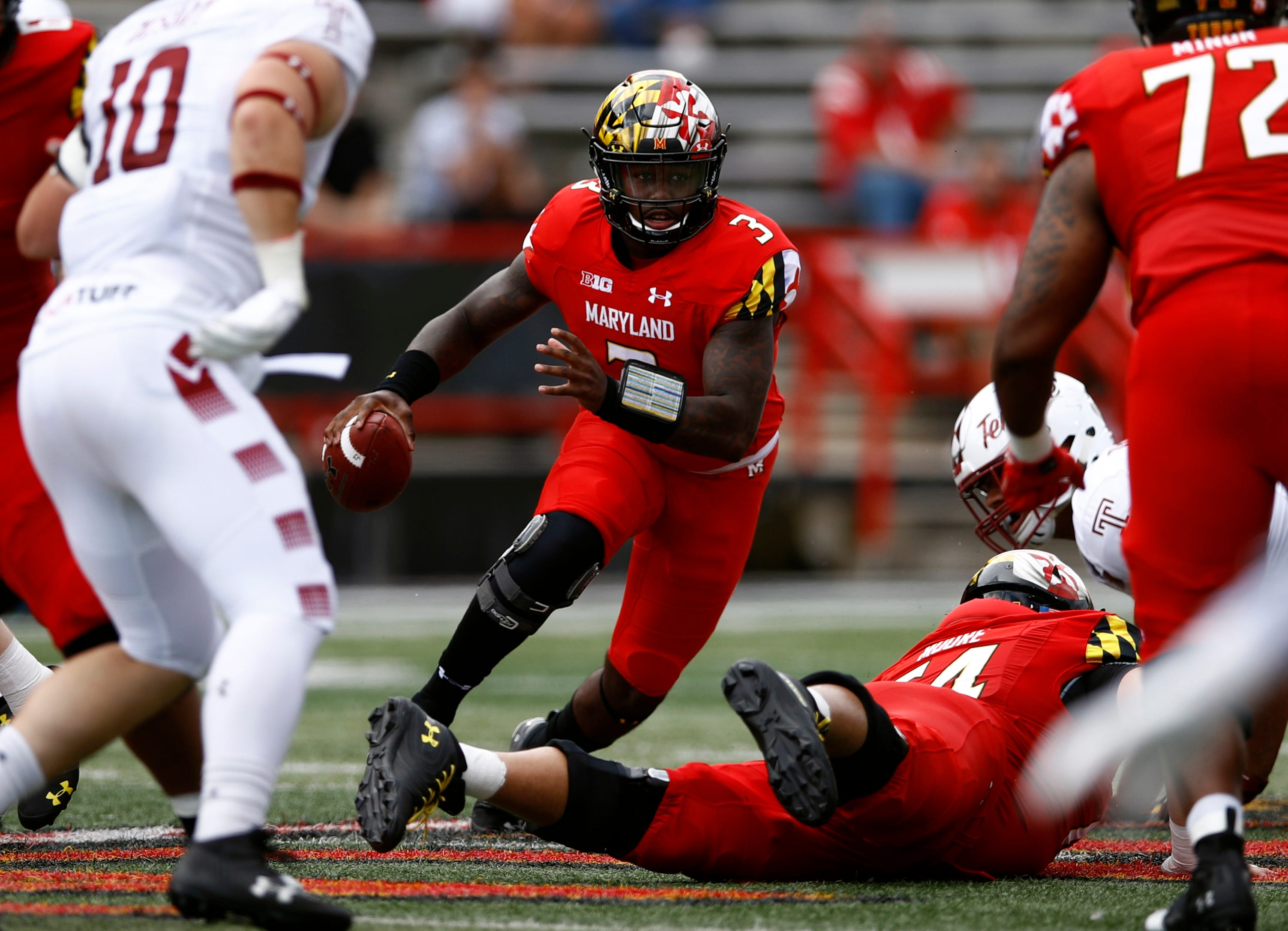 Maryland quarterback Tyrrell Pigrome is one of 11 players from Clay-Chalkville High.