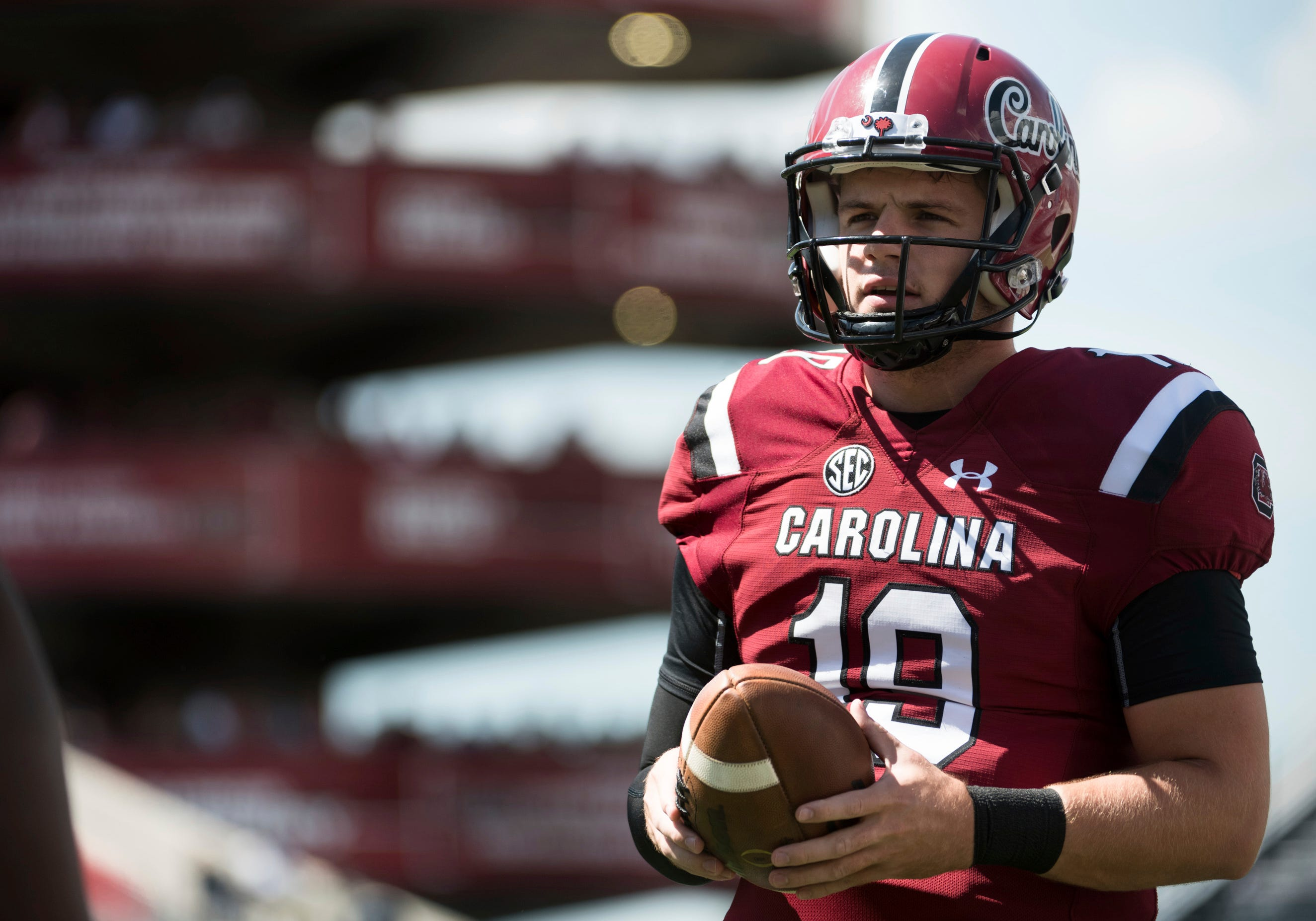 South Carolina quarterback Jake Bentley is one of 14 players from Opelika in major college football this season.