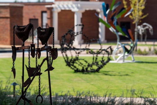 Sculpture Garden at the Montgomery Museum of Fine Arts.