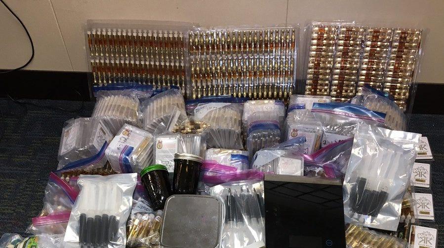 East Nashville man arrested after search warrant turns up 2,348 vials of THC oil