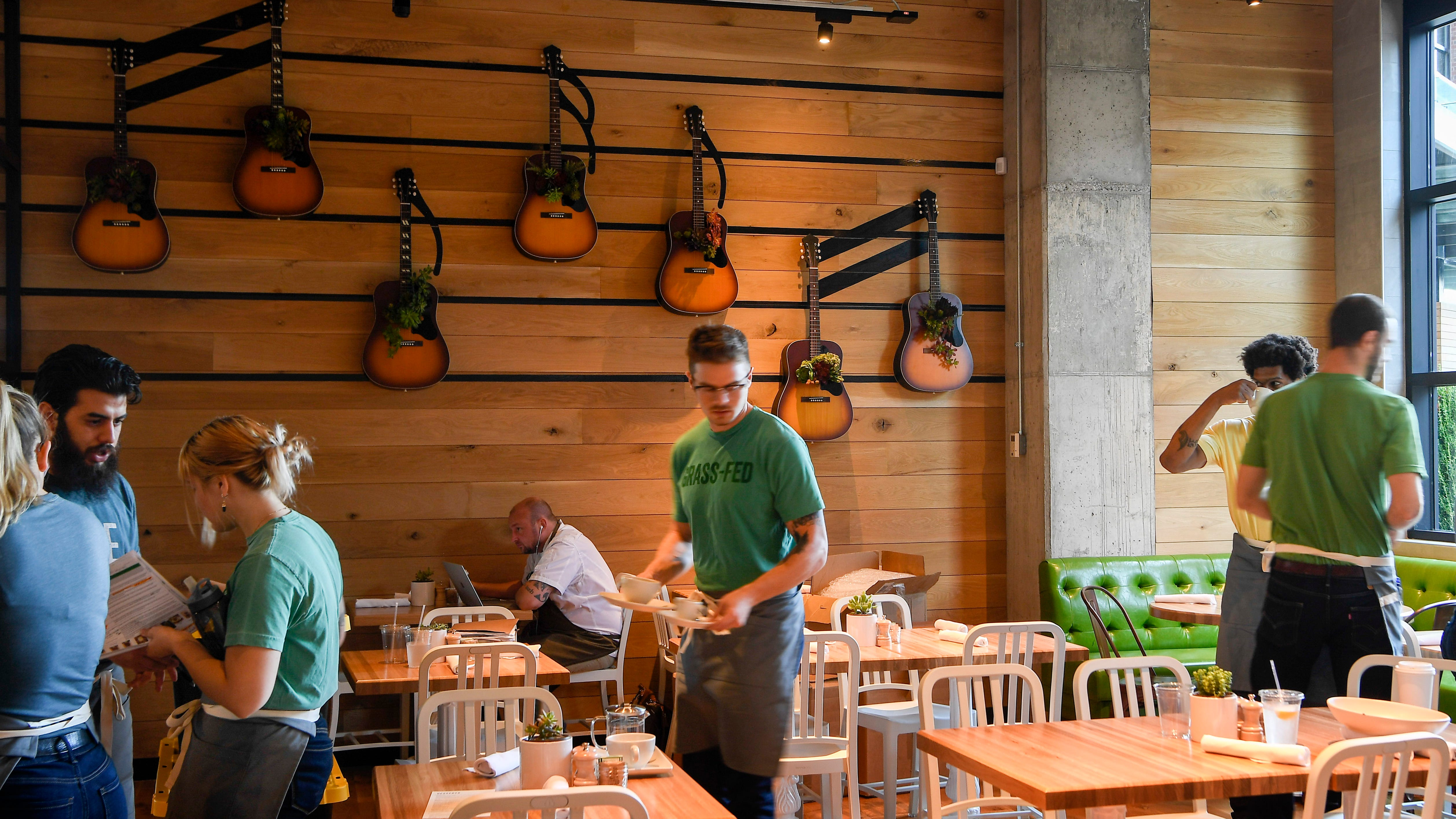 Workers are trained at the new True Food Kitchen in Nashville on Thursday, Sept. 20, 2018. This is the company's 24th location in the country.