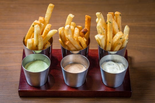 French Fry Trio from Bourbon Steak Nashville.