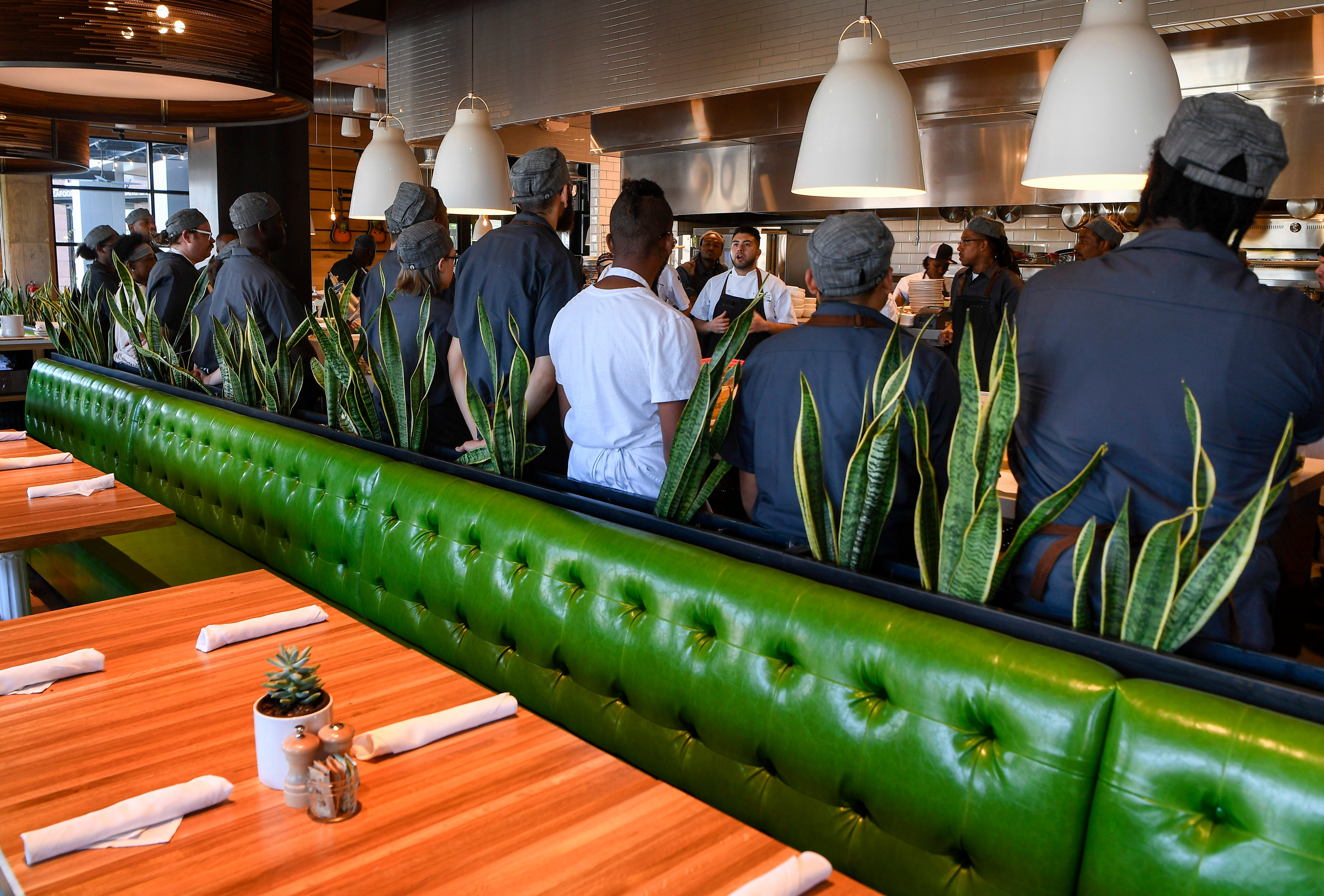 Workers Are Trained At The New True Food Kitchen In Nashville, Tenn.,  Thursday