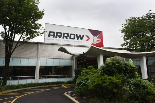 Exterior shot of Arrow Fastener Co. Inc., in Saddle Brook.