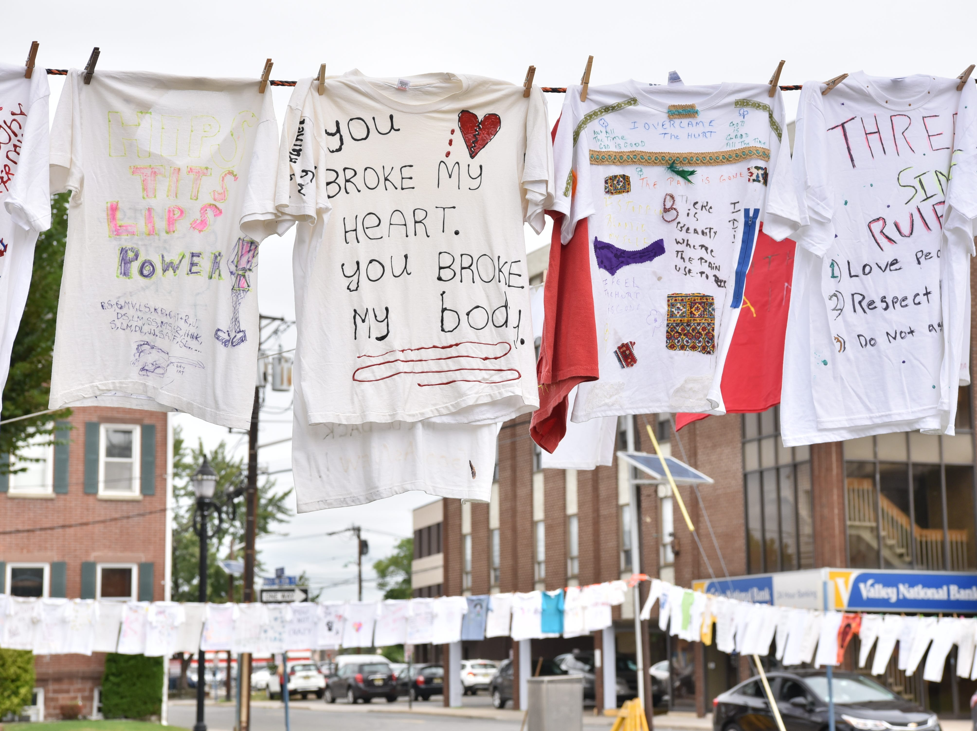 YWCA Bergen County healingSPACE host its 25th Anniversary Clothesline Project on the Green in Hackensack on Thursday, September 20.