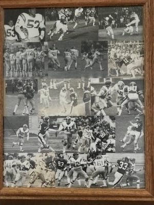 Collage of photos from the 1978 Belleville football team's season.