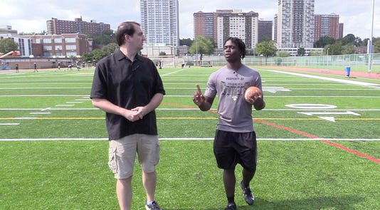 Greg Tartaglia Hosts 100 Yards With Tymere Robinson Running Back And Linebacker For Hackensack