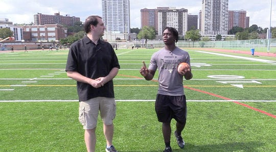 Greg Tartaglia hosts 100 Yards with Tymere Robinson, running back and linebacker for Hackensack.