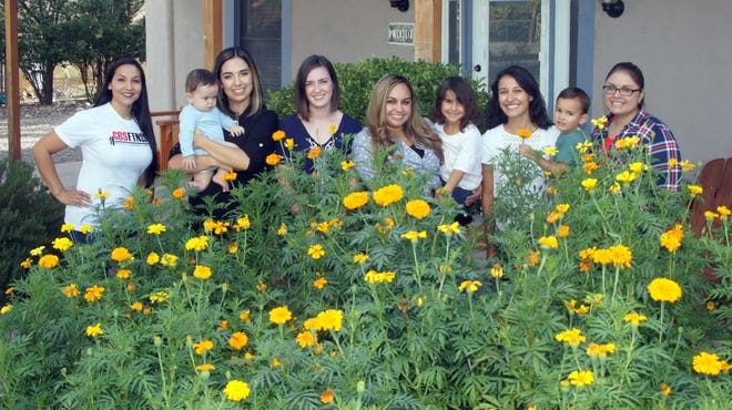 The Play Sharity group stands in front of marigolds, a flower synonymous with Dia de los Muertos. From left are Lorraine Dominguez, Crisel Repogle, Chelsea Newman, Briney Valdez, Kayln Blazak and Crystal Gonzales. The group is planning to raise funds with a Dia de Los Muertos Art Festival from 2 to 10 p.m. on Saturday, Nov. 3 at the Luna County Courthouse Park. They are seeking sponsors, vendors, performance artists, artists and volunteer for the event. The event will be free and open to the public.