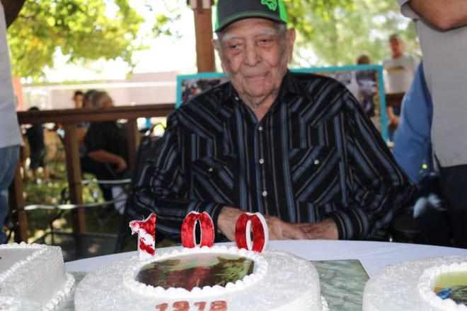 Benjamin Lopez celebrated his 100thbirthday Sept.15 at Casa del Sol Nursing Home.