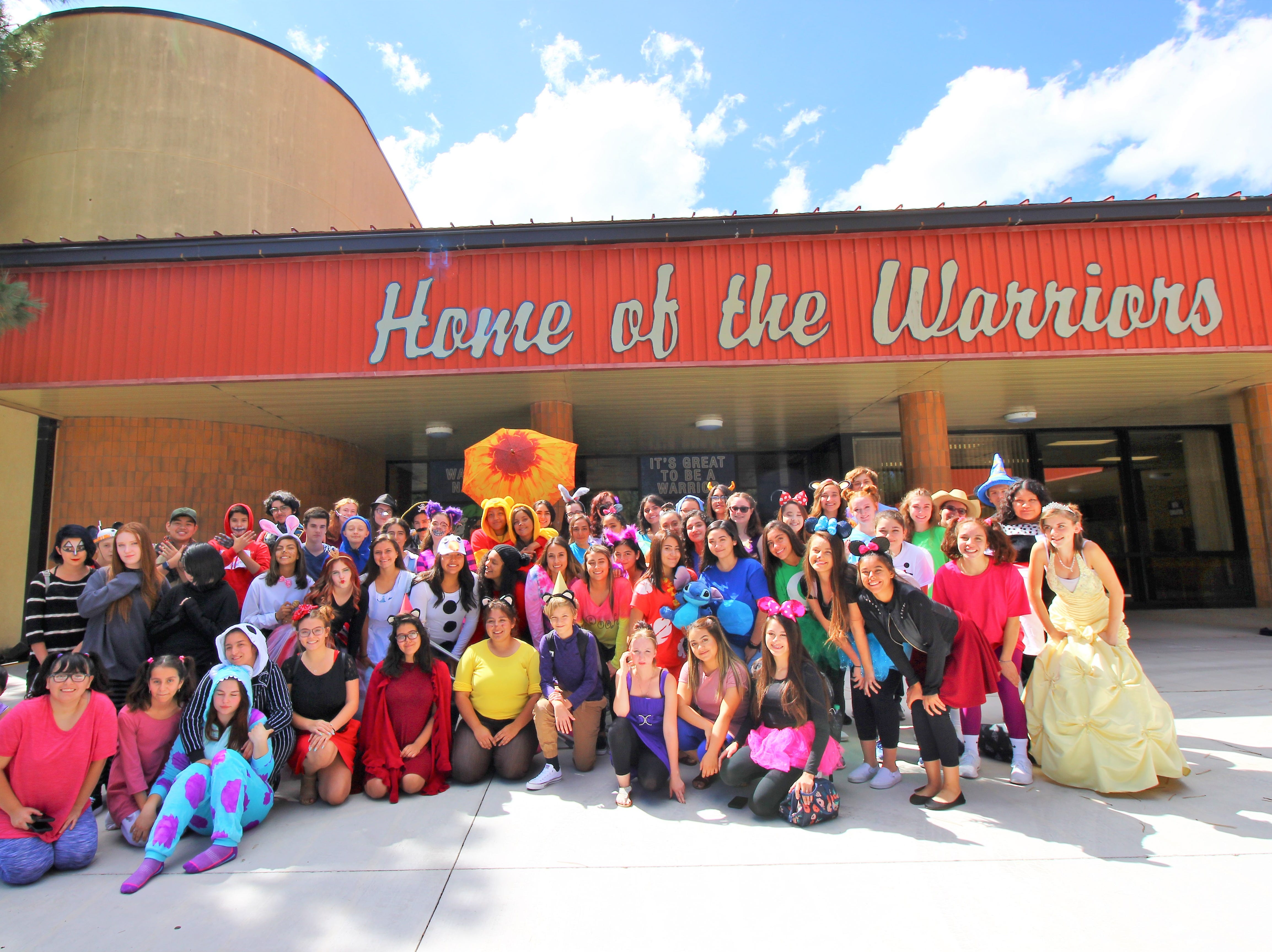 The student body at Ruidoso High School show up for Disney Day dressed as their favorite character during spirit week.