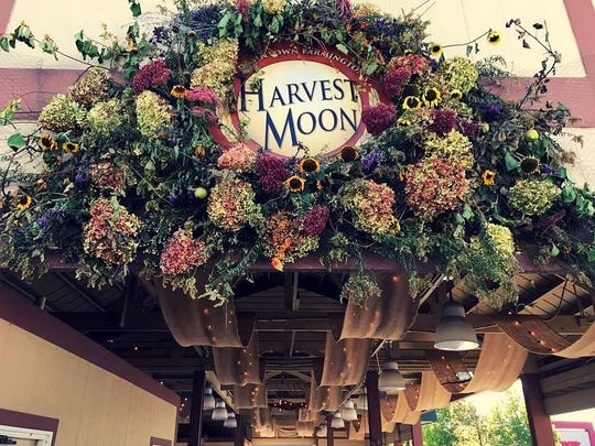 Riley Pavilion is decorated every year for the Harvest Moon Celebration in downtown Farmington.