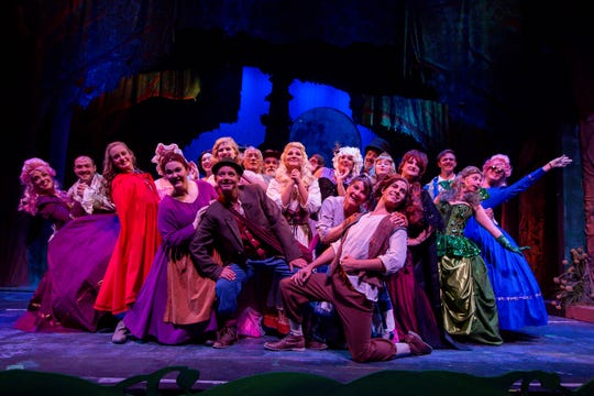 """Cast members of the Pensacola Little Theatre's production of """"Into the Woods"""" run through a dress rehearsal of the musical on Monday, September 17, 2018."""