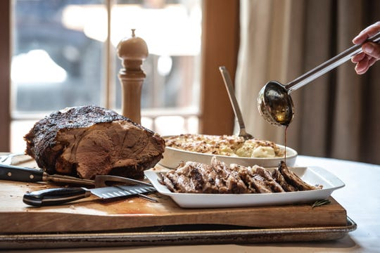 Pork Roast with Squash and Boursin Casserole, Jackson's Steakhouse.