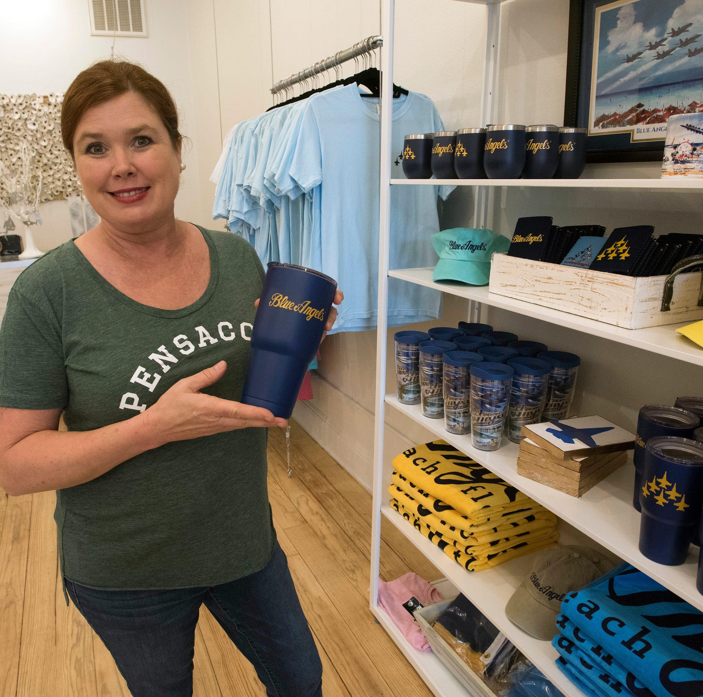 Upscale Pensacola souvenir shop selling Blue Angels gear opens downtown