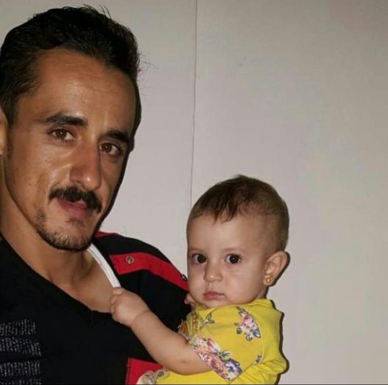 Almoatessem Almansour and his daughter in Jordan