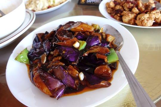 Yu xiang eggplant at Szechuan Cuisine in Glendale.