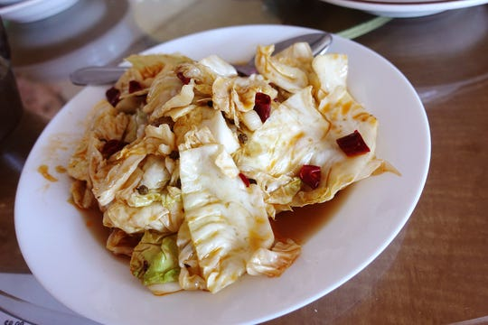 Sour and spicy cabbage at Szechuan Cuisine in Glendale.