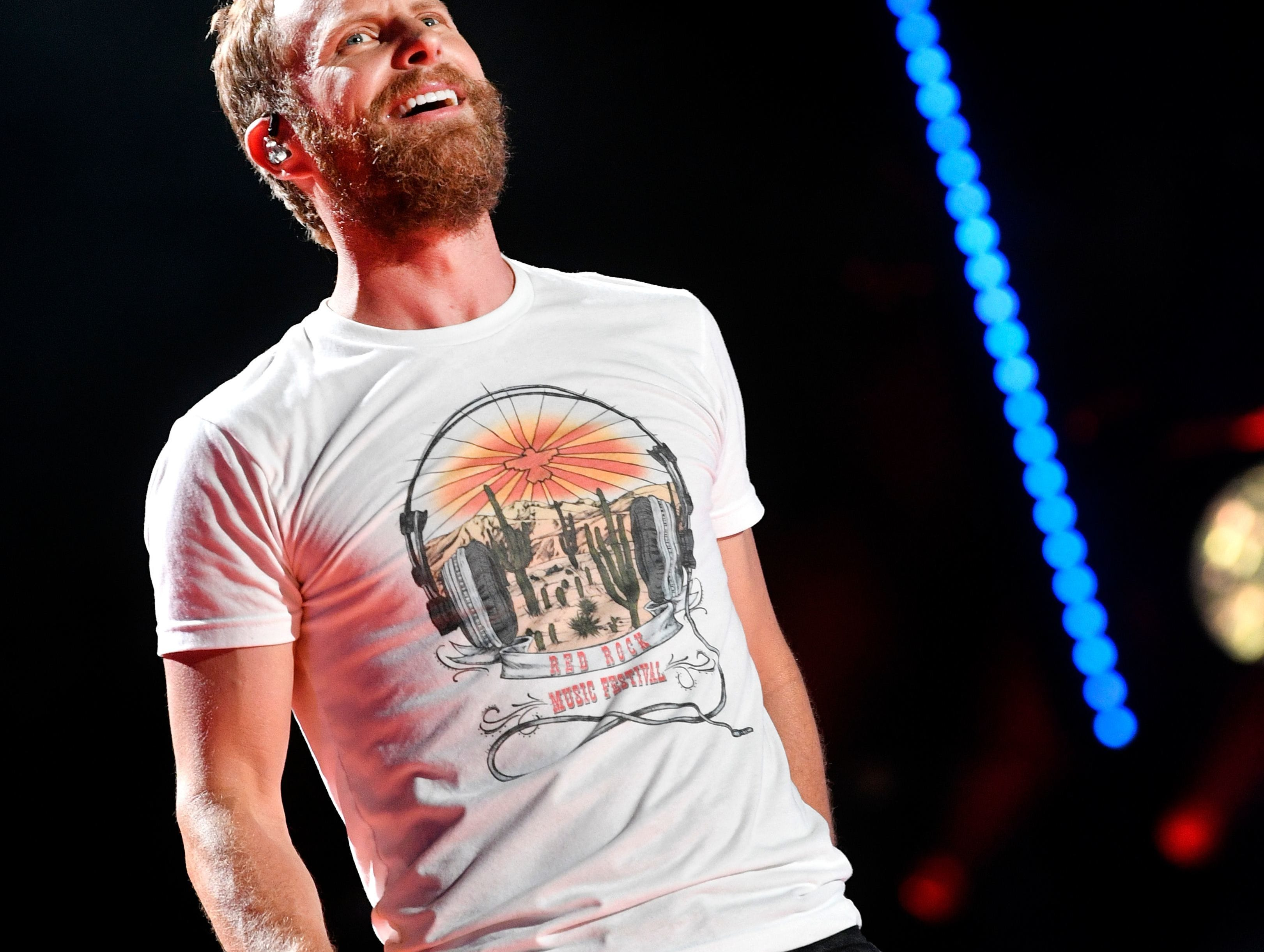 Dierks Bentley performs at CMA Music Fest on June 10, 2018, in Nashville.