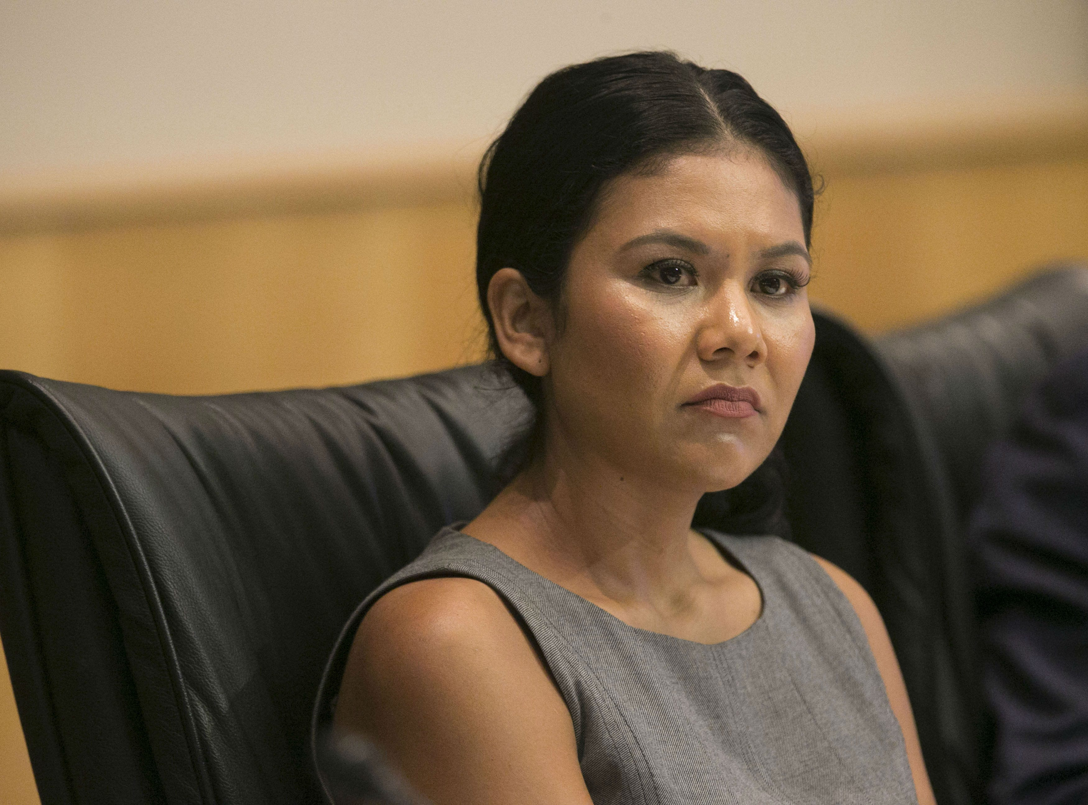 Phoenix City Councilwoman Vania Guevara during a Phoenix City Council meeting at the Phoenix City Council Chambers on Sept. 19, 2018.